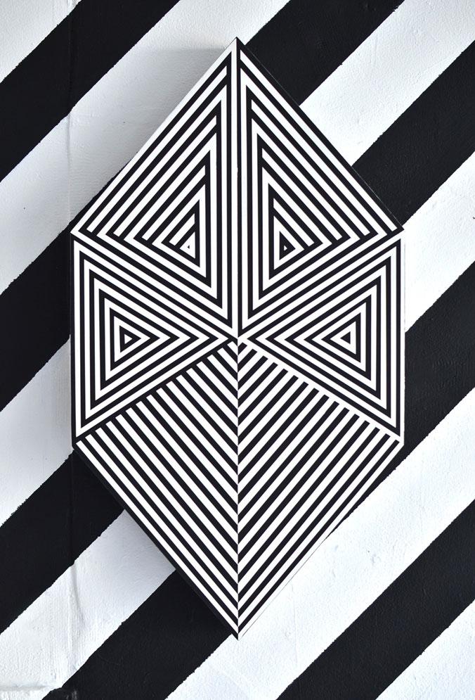 """Stealth Badge (Acrylic on Panel) (14""""x26"""") Acrylic on Panel (14""""x26"""")"""