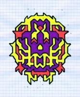 "MARVULON (5.75""x7.5"") SHARPIE ON VELLUM PAPER"