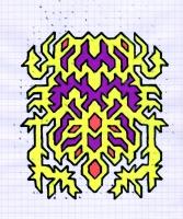 """ZORASTRON (5.75""""x7.5"""") SHARPIE ON VELLUM PAPER"""