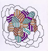 "GEODE #2 (8.25""x7.5"") SHARPIE & COLORED PENCIL ON VELLUM PAPER"