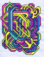 "RADIOLOGICALITY (5.75""x7.5"") SHARPIE ON VELLUM PAPER"