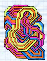 "INTERCOIL (5.75""x7.5"") SHARPIE ON VELLUM PAPER"