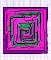 """PALM CITY (8.25""""x7.5"""") SHARPIE ON VELLUM PAPER"""