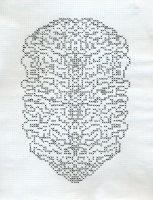 "MERGING SPIRITS (8.5""x11"") GEL PEN ON PAPER"