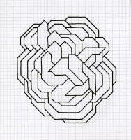 "MERGING MOLECULES (8.25""x7.5"") SHARPIE ON VELLUM PAPER"