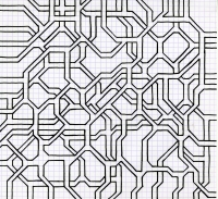 """ATERIAL FORMATION (8.25""""x7.5"""") SHARPIE ON VELLUM PAPER"""