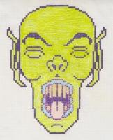 "VAMP YAWN (5.75""x7.5"") GEL PEN & COLORED PENCIL ON VELLUM PAPER"