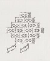 "BRICKS (8.5""x11"") GEL PEN ON PAPER"