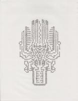 "EMBLEM #2 (8.5""x11"") GEL PEN ON PAPER"