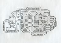 """SYSTEM #2 (8.5""""x11"""") GEL PEN ON PAPER"""