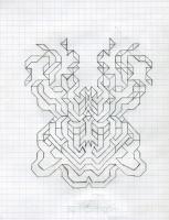 """UNFOLING APPARATUS (5.75""""x7.5"""") PENCIL ON VELLUM PAPER"""