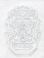 "SMILING STAR (5.75""x7.5"") PENCIL ON VELLUM PAPER"