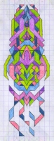 "TAPER (2.75""x7.5"") COLORED PENCIL ON VELLUM PAPER"
