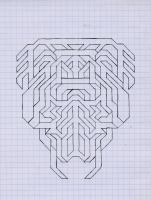 "MANDIBLE (5.75""x7.5"") PENCIL ON VELLUM PAPER"