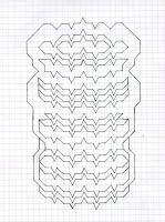 "FUZZ TOOTH (5.75""x7.5"") PENCIL ON VELLUM PAPER"