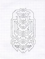 """COMPRESSION CAPSULE (5.75""""x7.5"""") PENCIL ON VELLUM PAPER"""