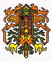 """ICON #11 (5.75""""x7.5"""") SHARPIE ON VELLUM PAPER"""