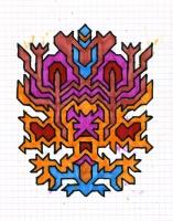 """ICON #8 (5.75""""x7.5"""") SHARPIE ON VELLUM PAPER"""