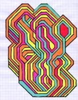 """DIODE (5.75""""x7.5"""") SHARPIE ON VELLUM PAPER"""