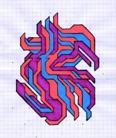"PULMINARY (5.75""x7.5"") SHARPIE ON VELLUM PAPER"