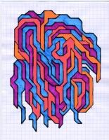 """SAGGING VEINS (5.75""""x7.5"""") SHARPIE ON VELLUM PAPER"""
