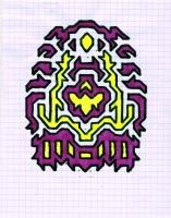 """ICON #9 (5.75""""x7.5"""") SHARPIE ON VELLUM PAPER"""