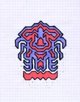 """ICON #10 (5.75""""x7.5"""") SHARPIE ON VELLUM PAPER"""