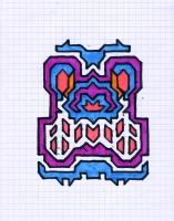 """ICON #13 (5.75""""x7.5"""") SHARPIE ON VELLUM PAPER"""