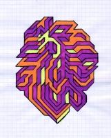"""NODE (5.75""""x7.5"""") SHARPIE ON VELLUM PAPER"""