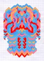 """PRIMORDIAL EMBLEM (5.75""""x7.5"""") GOUACHE ON VELLUM PAPER"""